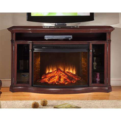 Electric Fireplace Tv Stand Muskoka Hamilton 62 In Wide Electric Fireplace Tv Stand Burnished Cherry Mtvsc3303sch