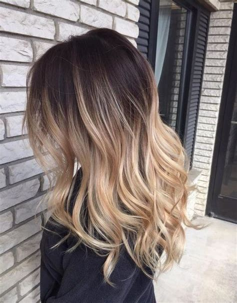 ombre bunette blonde brunette on bottom brown to blonde ombre hair pictures photos and images