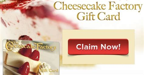 Cheesecake Factory Gift Card Pin - get a free gift card for cheesecake factory coupons giftcard pinterest