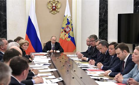 Government Members Meeting With Government Members President Of Russia