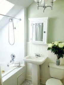 Small green and white master bathroom with carrara marble floor