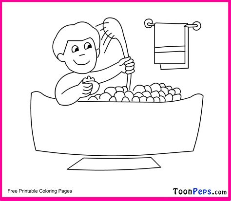 coloring page bathroom bathroom tools free coloring pages