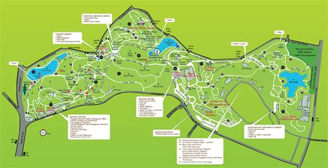 World Heritage Sites In Singapore Botanical Gardens Singapore Map