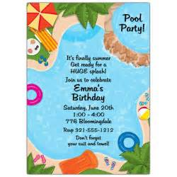 backyard pool invitations paperstyle