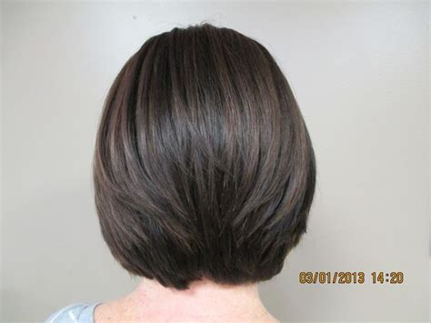 caramel highlites on inverted bob inverted bob and caramel highlights by bonnie paynter la