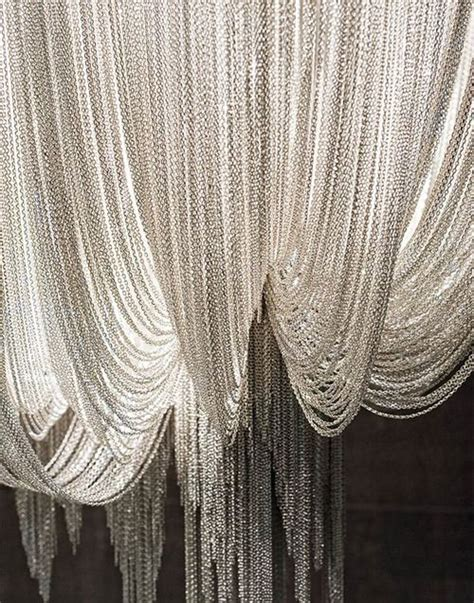 chain curtains wedding metals and photo booths on pinterest