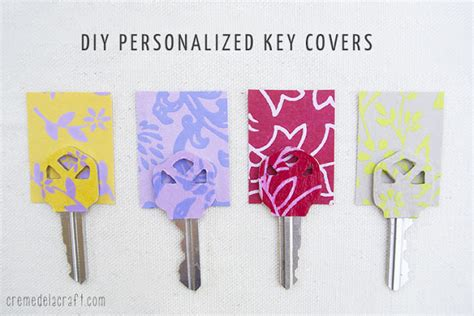 How To Make Paper Key - diy personalized key covers from scrapbook paper