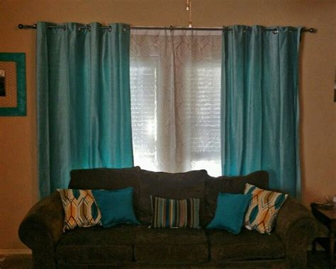 turquoise curtains for living room my new living room curtains i love them light turquoise