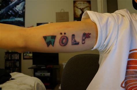 tyler the creator tattoos getting a wolf plus more ofwgkta fan