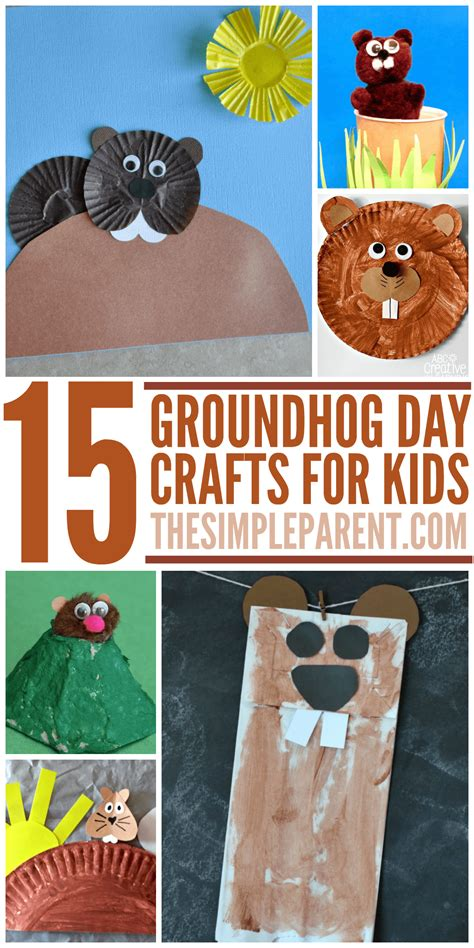 groundhog crafts for groundhog day crafts for whether he sees his shadow