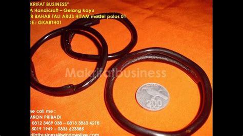 Gelang Bahar Tali Arus gelang kayu akar bahar tali arus hitam model polos 01