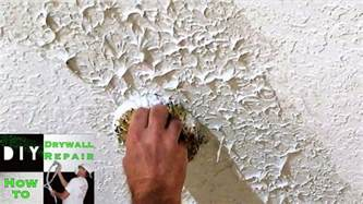 Diy Knockdown Ceiling by Diy How To Match Knockdown Texture With The Knockdown