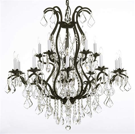 A83 3034 10 5 Gallery Large Size Versailles Wrought Iron Gallery Chandelier