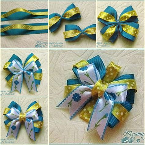 diy beautiful satin ribbon bow hair clip