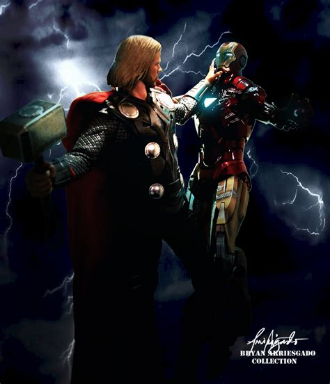 thor 2 vs iron man 3 in marvel battle wtop thor vs iron man by bryanrisktaker on deviantart