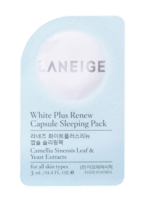 Diskon Laneige White Plus Renew Capsule Sleeping laneige white plus renew capsule sleeping pack pinkycute