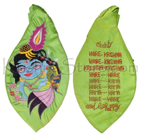 japa bead bag krishna with parrot japa bead bag