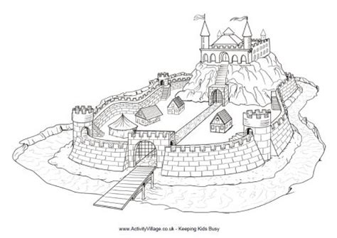 motte and bailey castle labeled diagram motte and bailey castle colouring page to print
