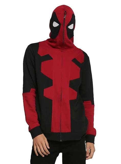 Zipper Marvel Jaket Hoodie marvel universe deadpool zip hoodie topic