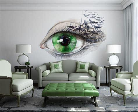 refreshing wall mural ideas   living room