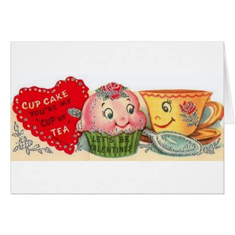 vintage cupcake and teacup s day card zazzle
