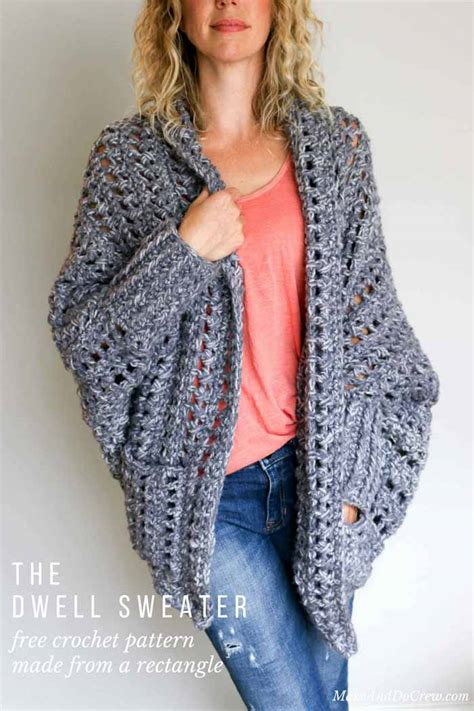 free crochet sweater patterns easy chunky crochet sweater free pattern from make do crew