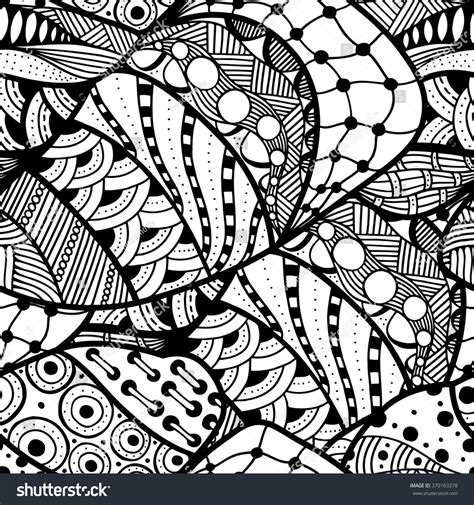 tribal pattern doodles seamless abstract doodle background pattern vector stock