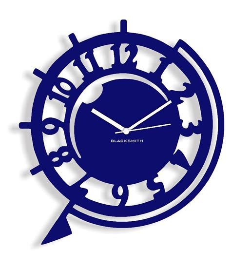 funky wall clocks blacksmith funky wall clock dark blue buy blacksmith