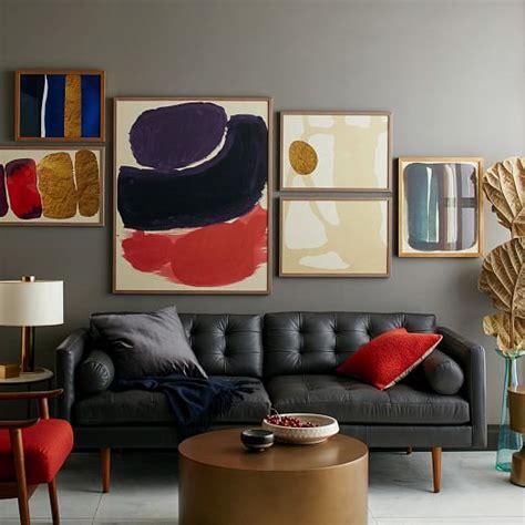 mid century leather sofa mid century leather sofa 80 quot west elm