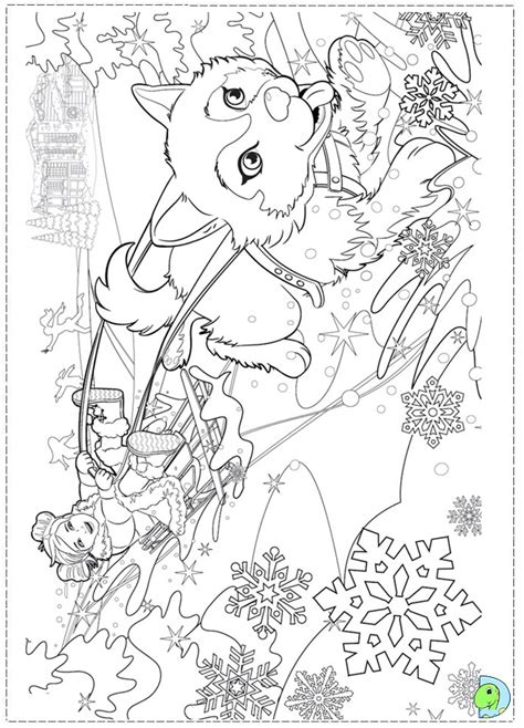 free barbie christmas coloring pages
