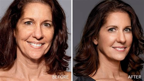 haircuts to take attention off jowls sagging bobbi brown s makeup facelift