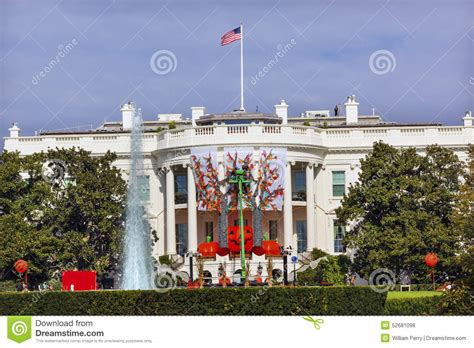 white house halloween halloween fall decorations white house washington dc editorial stock photo image