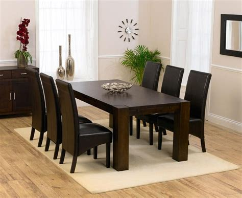 black wood dining room sets top dark brown wood dining tables room ideas on dining