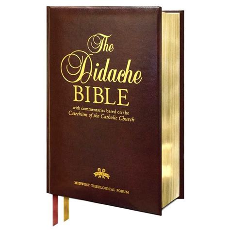 Nabre Catholic Mens Bible didache bible nabre burgundy leather 70341