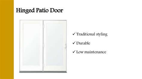 patio door types different types of patio doors