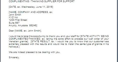 thank you letter vendors sles every bit of thank you letter to supplier or vendor