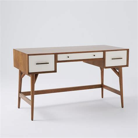 I Love The Mid Century Inspired Line At West Elm Solid West Elm Small Desk