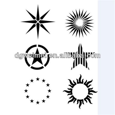 tato temporer bintang hitam suku bintang matahari tato stiker tato temporer id