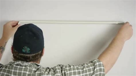 mounting curtain rods on plaster walls video how to hang curtains on plaster walls ehow