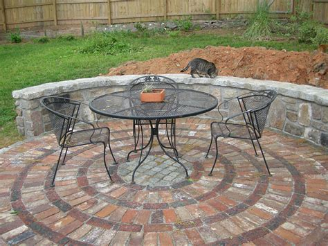 Circular Brick Patio Designs a new patio for the backyard westview bungalow