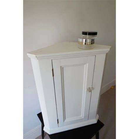 white painted pine hung wall kitchen or bathroom corner