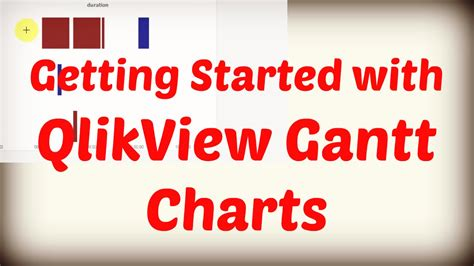 qlikview tutorial for beginners youtube getting started with qlikview gantt charts rangemax