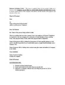 sle invitation letter for visa best business template
