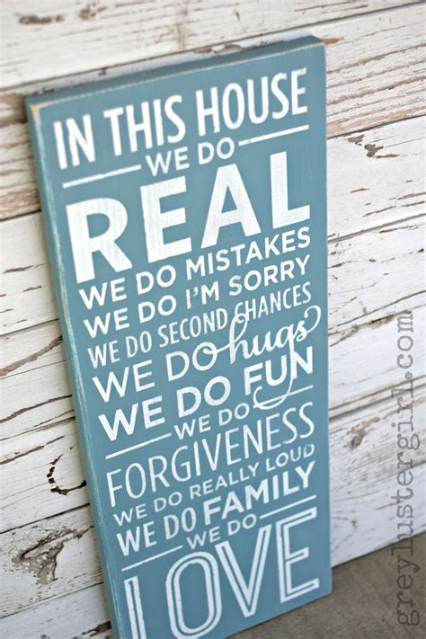 In This House We Do by In This House We Do Family Wood Sign Tutorial