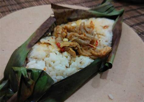 resep nasi bakar isi ayam jamur pedas oleh shanty