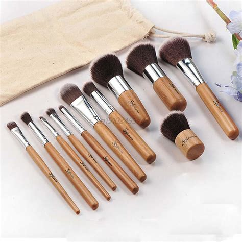 Clean Up Tool Kit 11 Pcs 11 pcs professional make up tools pincel maquiagem wood