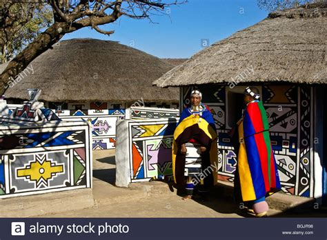 houses to buy in south africa ndebele women and traditional houses botshabelo south africa stock photo royalty