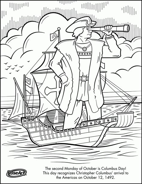 Christopher Columbus Coloring Pages Printable by Christopher Columbus And Family Coloring Page Coloring Home