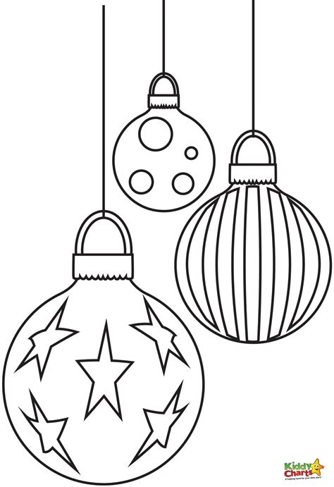 baubles to colour in baubles free coloring pages from kiddycharts