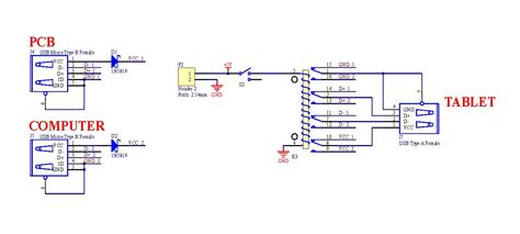 usb port schematic wiring diagram of a usb cable